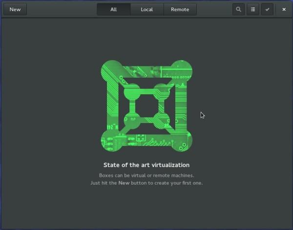 Fedora 23 GNOME Boxes