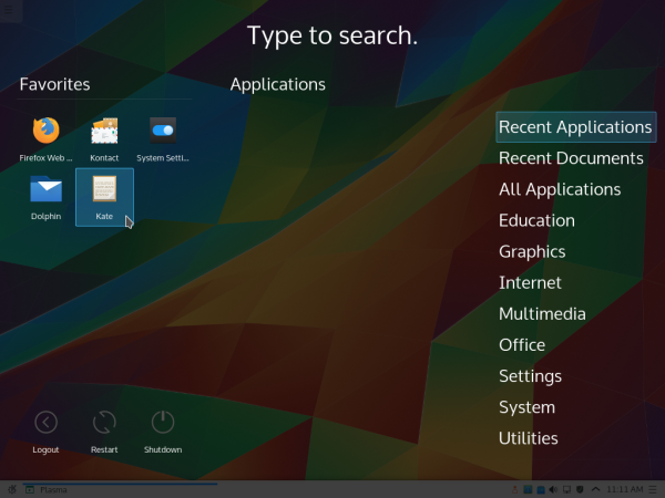KDE 5 Application Dashboard