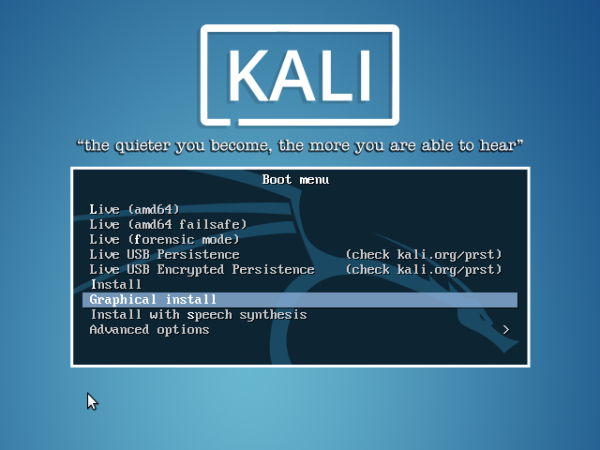 How to install Kali Linux 2.0 without a working Internet connection