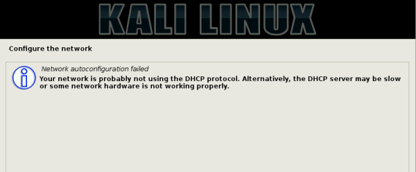 Kali Linux 2.0 Internet connection