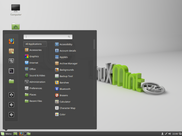 Linux Mint 17.2 Cinnamon Desktop