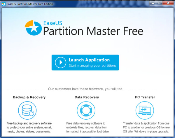 EaseUS Partition Master Windows 10