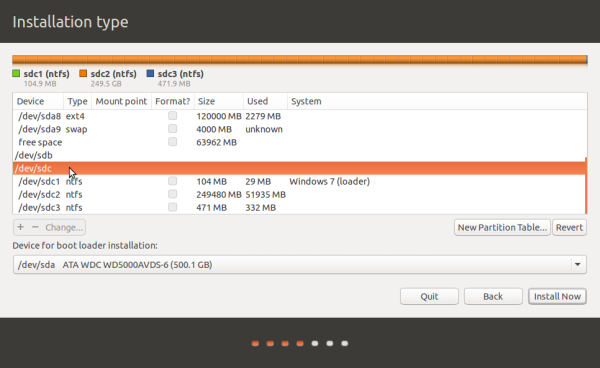 Ubuntu 15.04 advanced partition tool