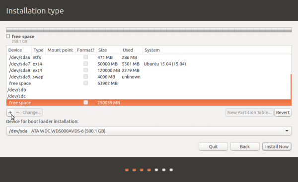 Ubuntu 15.04 on external hard drive