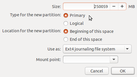 Ubuntu 15.04 partition editor