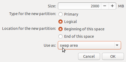 Ubuntu 15.04 swap partition
