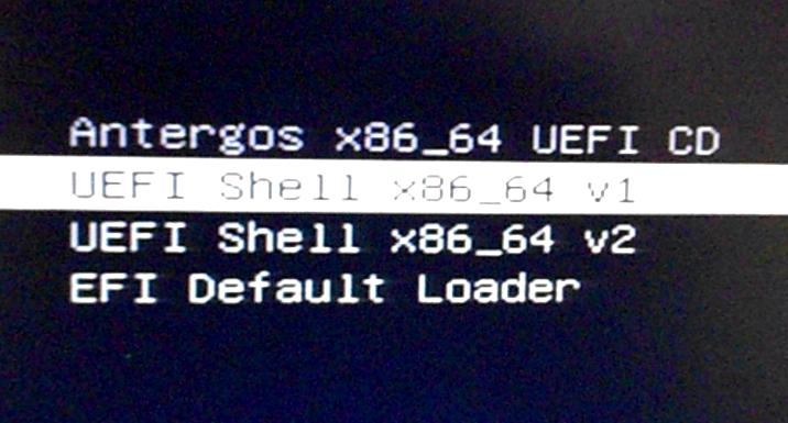 Anteros UEFI Boot options