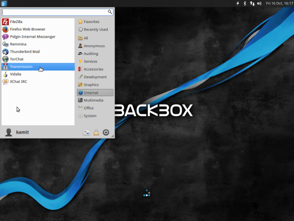 BackBox 4.4 Internet applications
