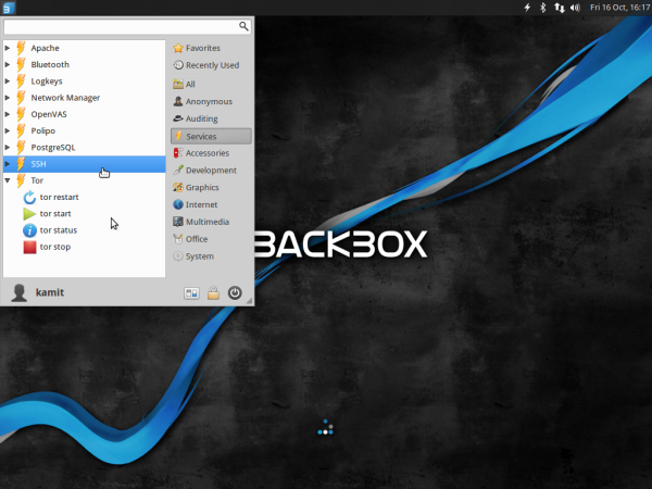 BackBox 4.4 system services