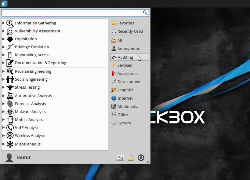 BackBox 4.4 auditing applications
