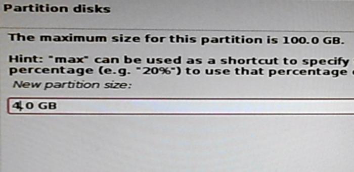 Kali Linux 2 swap partition size