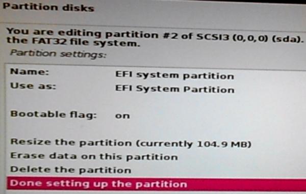 Boot EFI partition on Kali Linux 2