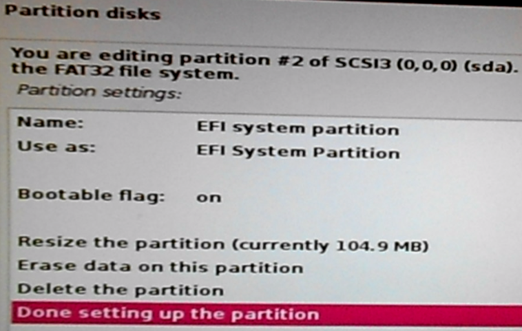 Boot EFI partition on Kali Linux 2