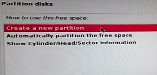 Kali Linux 2 create partition