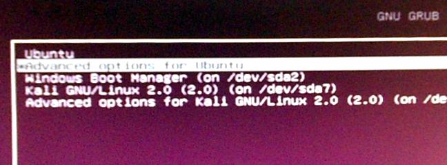 Ubuntu 15.10 GRUB boot menu