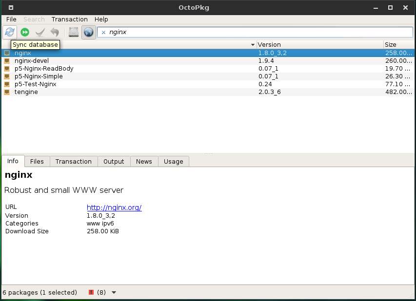 OctoPkg graphical package manager