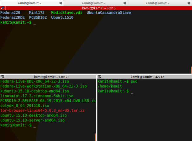 Terminator shell terminal for linux