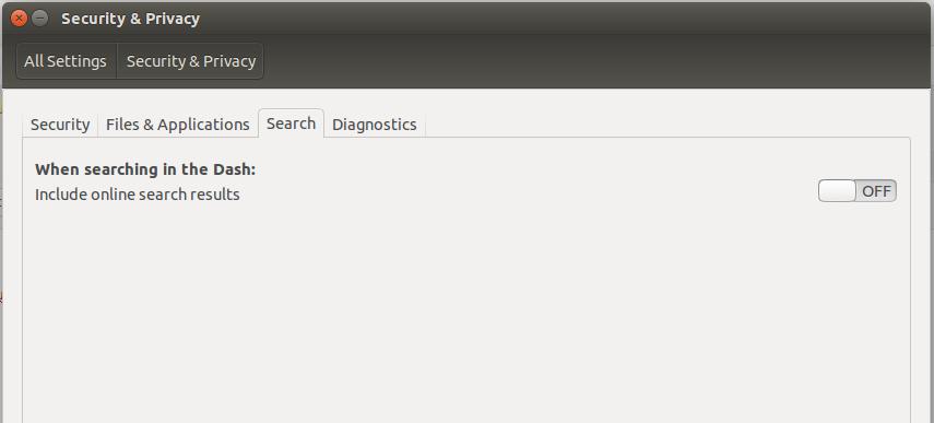 Ubuntu 15.10 disable online search