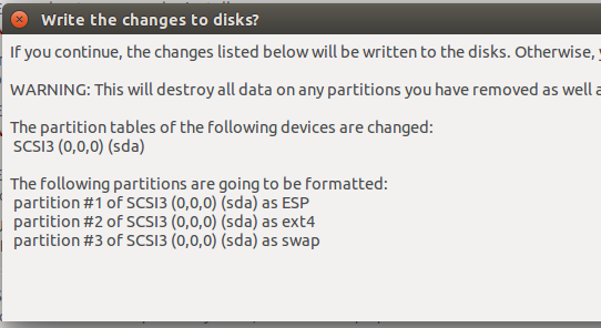 formatting Ubuntu 15.10 partitions