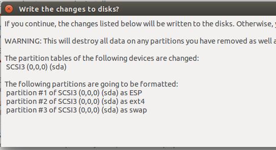 formatting Ubuntu 15.10 partitions