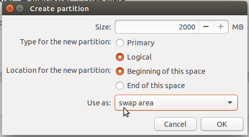Ubuntu 15.10 swap partition