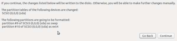 Ubuntu 15.10 default partitions