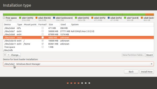 Triple-boot Ubuntu 15.10, Kali Linux 2 and Windows 10