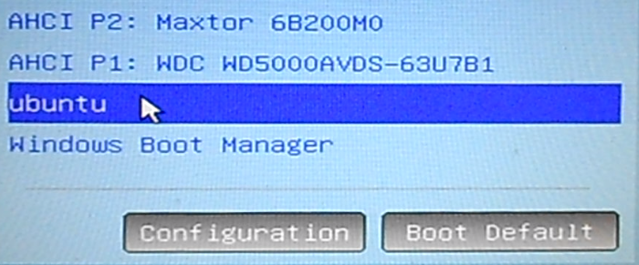 Ubuntu and Windows boot managers