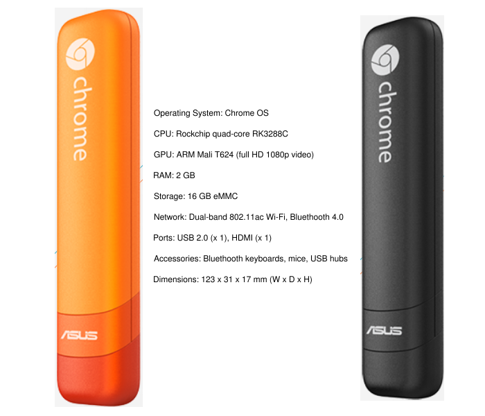 Asus Chromebit CS10 Rockchip quad core chip