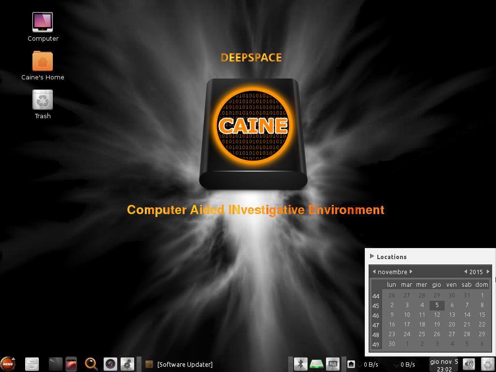 CAINE 7 desktop