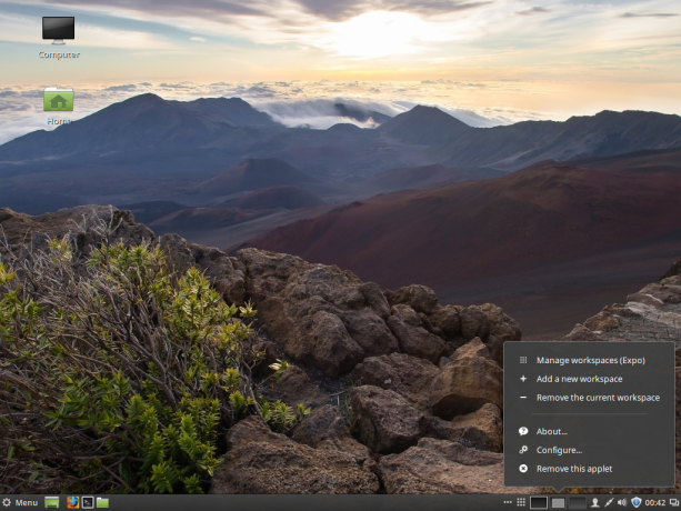 Cinnamon 2.8 desktop