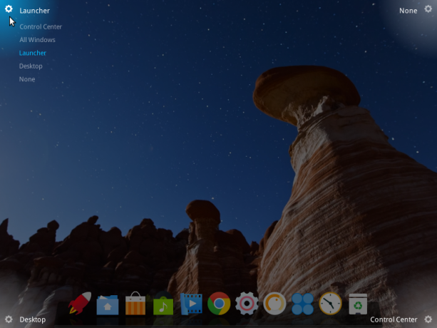 Deepin desktop hot corners