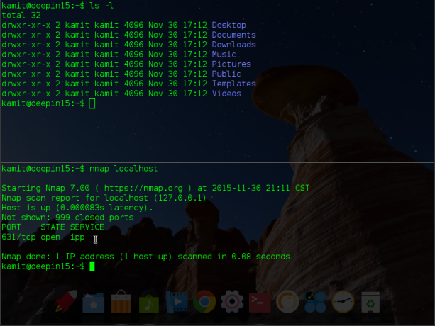 Quake terminal emulator Deepin 2015