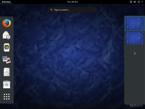 Fedora 23 GNOME desktop activities