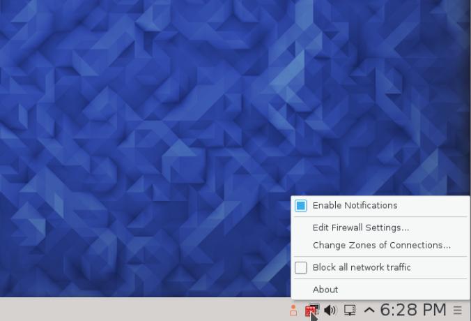 FirewallD firewall-applet