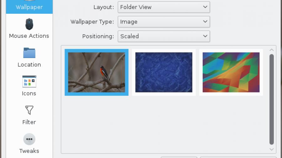 Change wallpaper Fedora 23 KDE