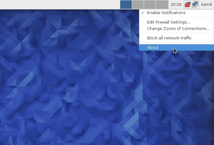 Firewall-applet Fedora 23 Xfce