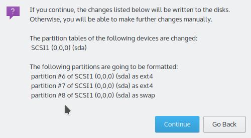 Format Kubuntu 15.10 partitions