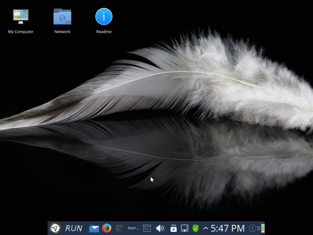 KDE feather wallpaper