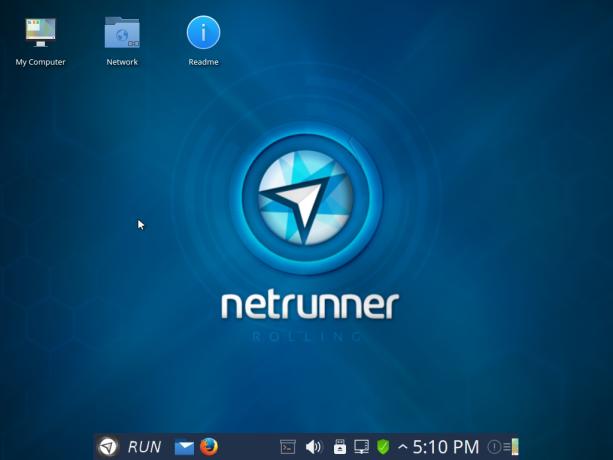 Netrunner Rolling 2015.11 desktop