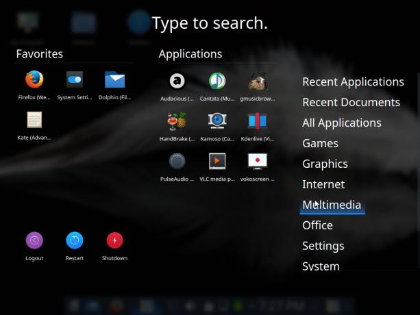 KDE App Dashboard