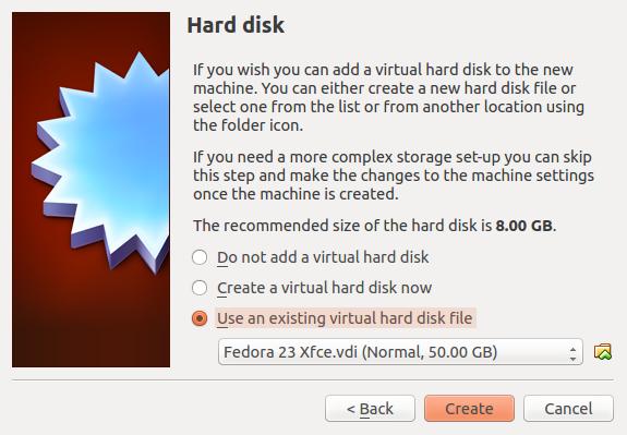 VirtualBox virtual hard drive