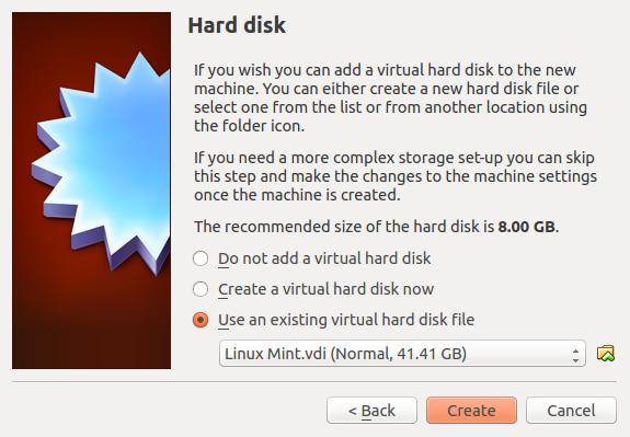 import virtual machine image into VirtualBox