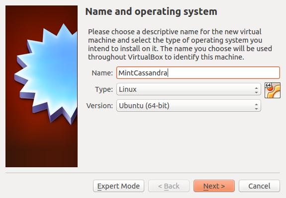 Create VirtualBox gest operating system