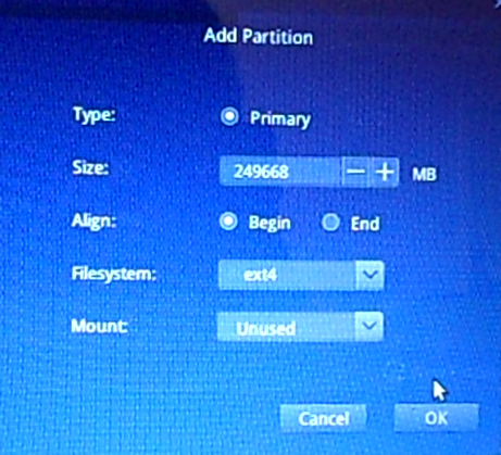 Deepin 15 partition editor