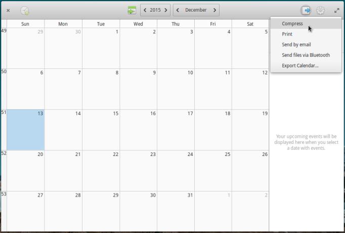 elementary OS Freya 0.3.2 calendar