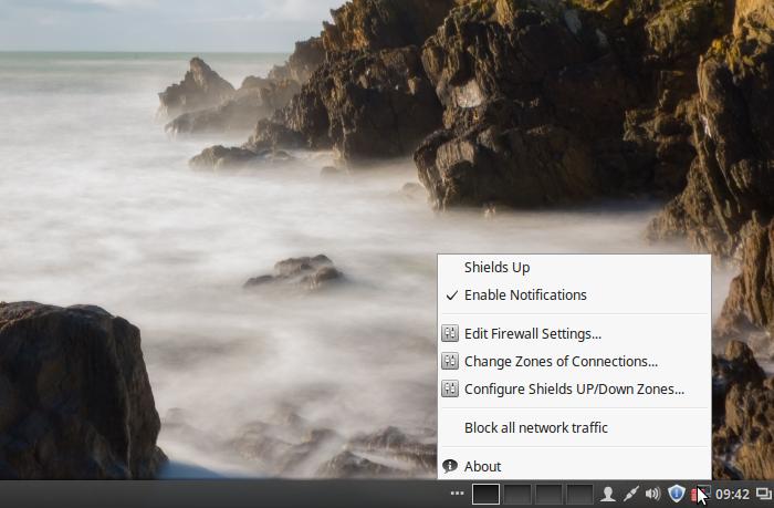 FirewallD firewall-applet Linux Mint 17.3