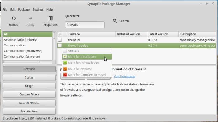 Install FirewaD Liux Mint 17.3