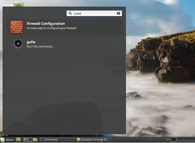 Launch Gufw Linux Mint 17.3
