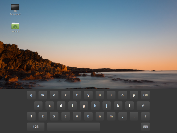 Linux Mint 17.3 Cinnamon onscreen keyboard